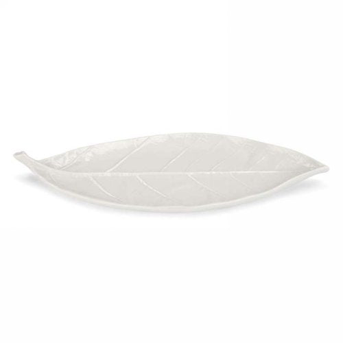 Cream leaf dish