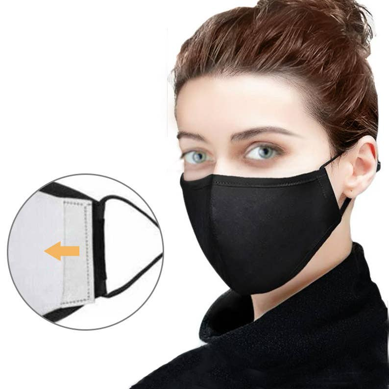 Adjustable Contour Face Mask - Filter pocket  Nose wire