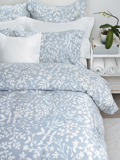 Forest Blue Duvet/Sham Set Queen - Madison Mackenzie Home