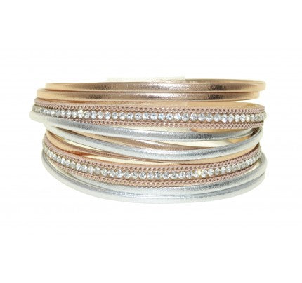Metallic Double Wrap Magnetic Bracelet