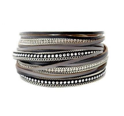 Multi Black Wrap Bracelet