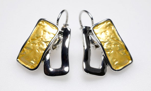 Yellow Rectangle Earrings