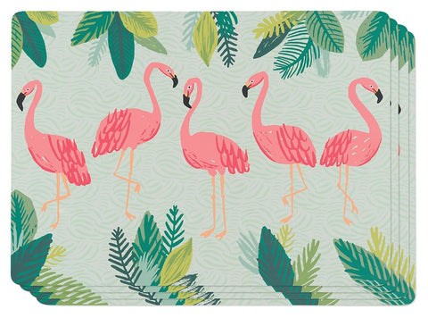 Flamingos Cork-backed Placemats - Set of 4