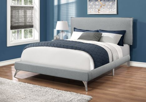 Jaye Queen Bed with Chrome Legs