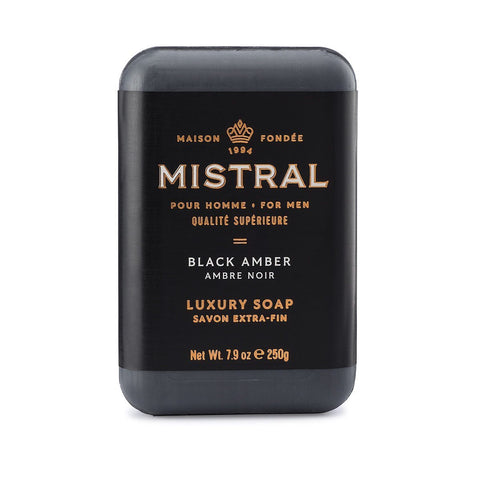 Men's Black Amber Bar Soap 250g