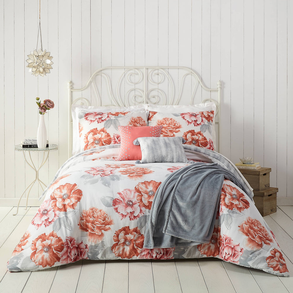 Golden Peony 6pc Comforter Set