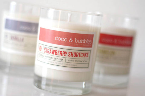 Coco & Bubbles Natural Soy Candle