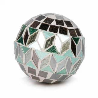 "3"" Green Motif Mosaic Ball"