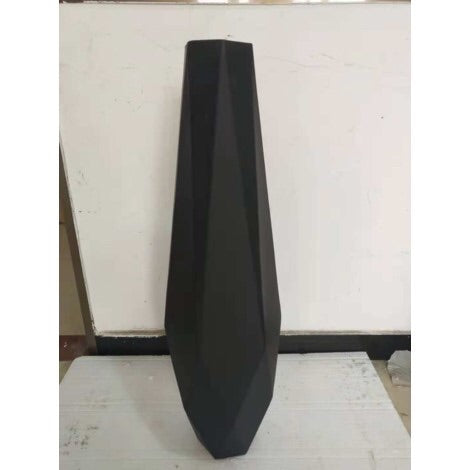 Black Angular Metal Vase