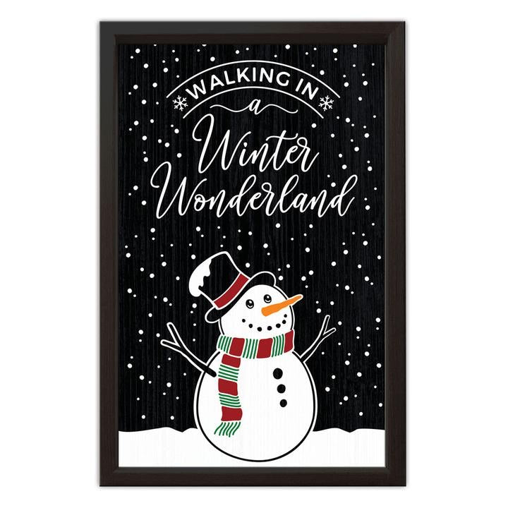 Snowman Wood Sign