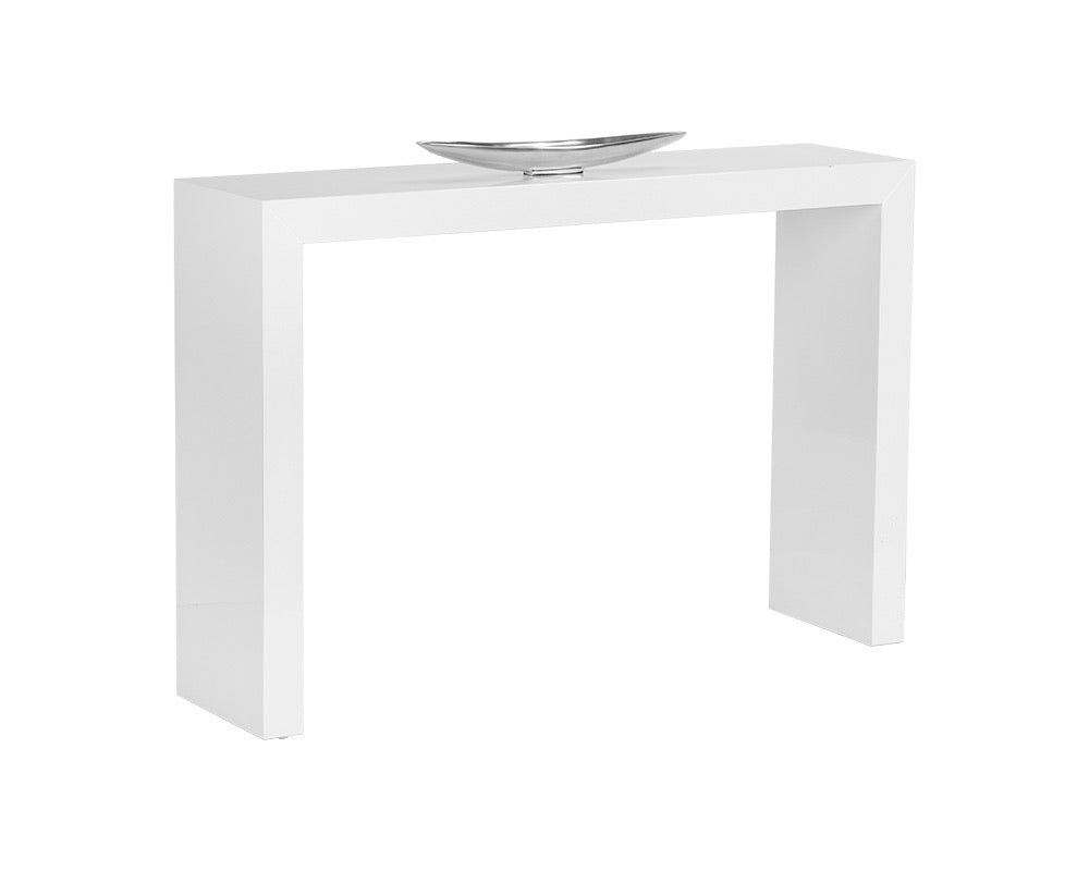 White Waterfall Console