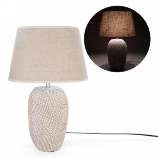 Beige and Natural Table Lamp