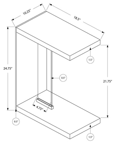 Glossy  Accent Table with Tempered Glass