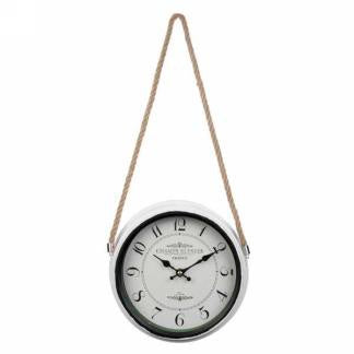White Metal Hanging Wall Clock