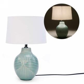 Table Lamp with Aqua Base