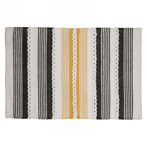 Black/Yellow Rug