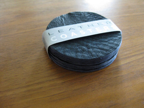 Leather Coasters 6pc Set