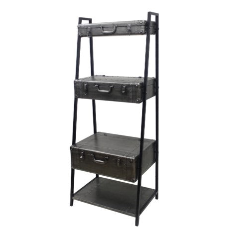 4-tier Metal Trunk Shelf with 3 Open Tops