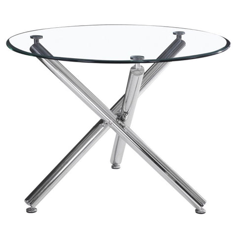 Everly Dining Table with Chrome Legs