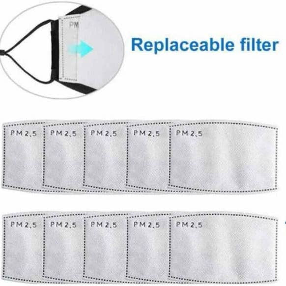 Face Mask Replaceable Filter PM2.5