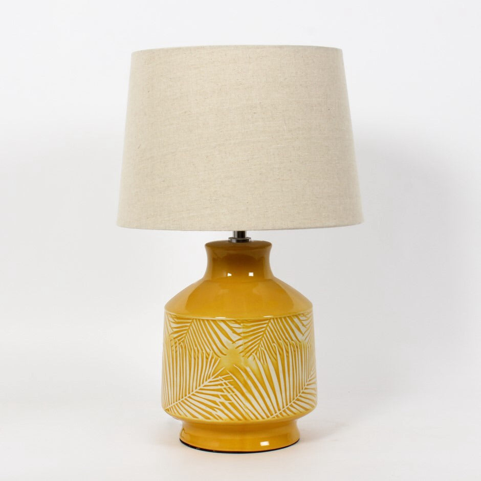 Yellow Palm Leaf Lamp