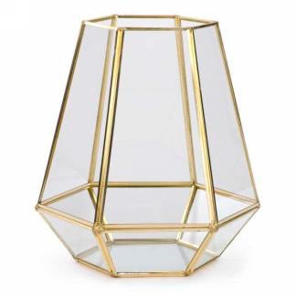 Glass and Metal Terrarium