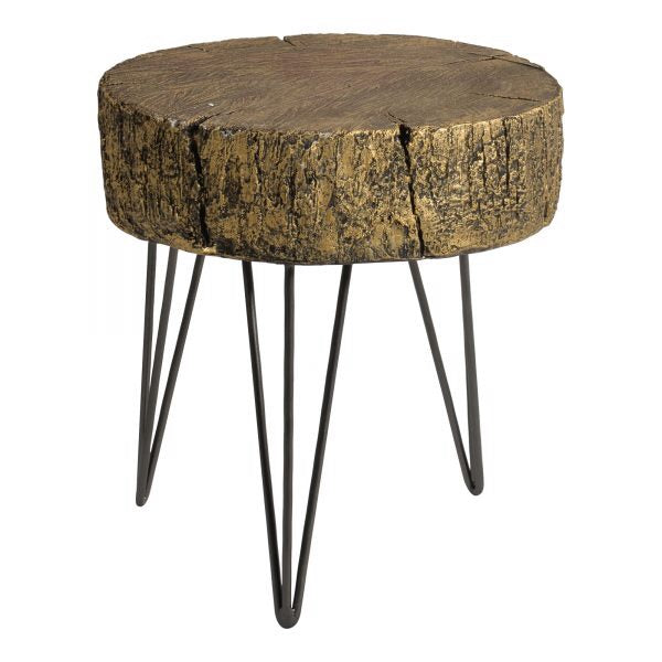 Golden Wood Accent Table