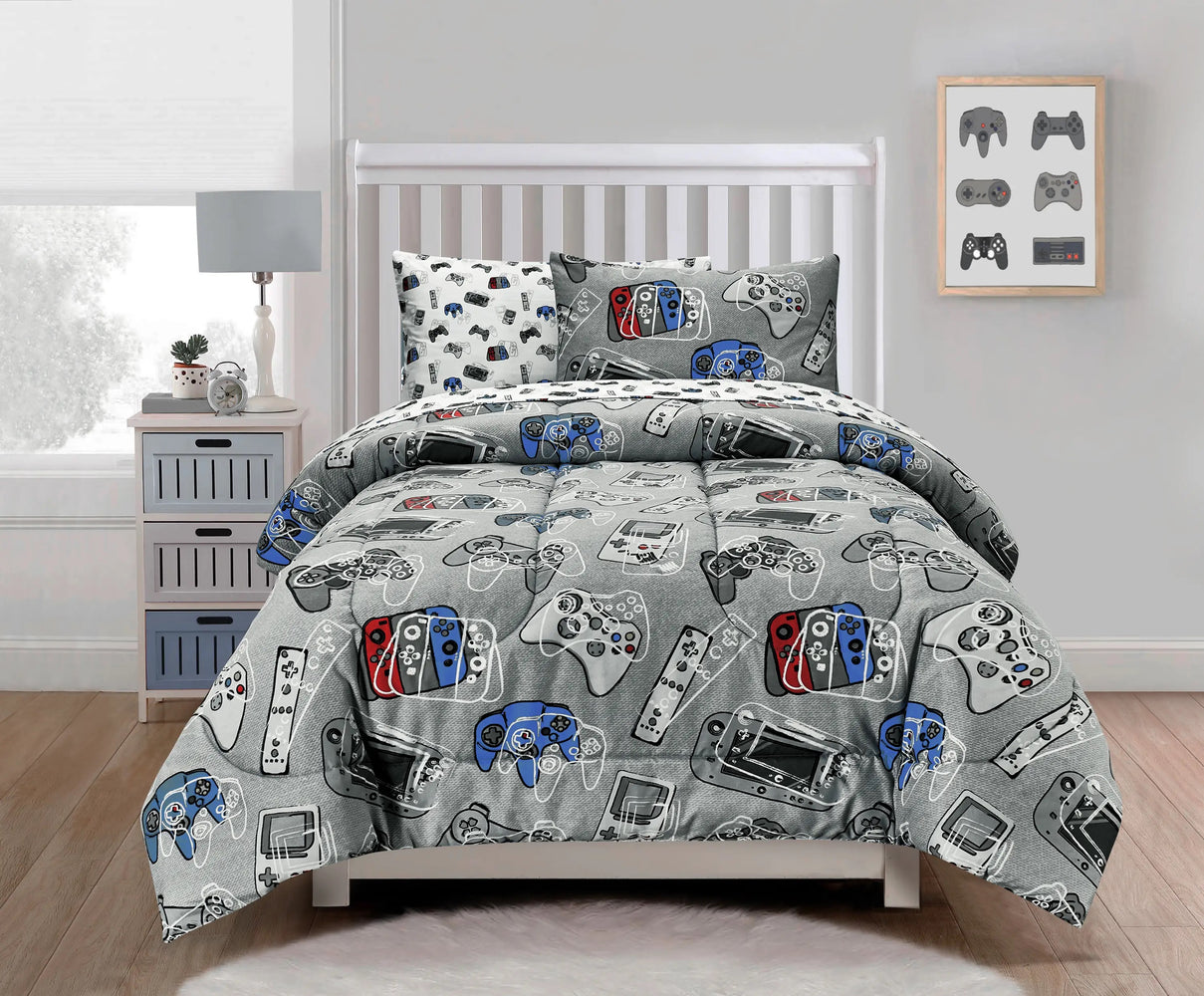 Gamer Glow in the Dark Comforter Set