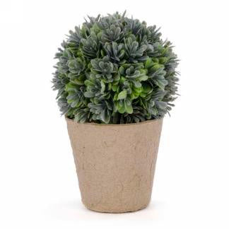 Artificial Green Ball in Pot