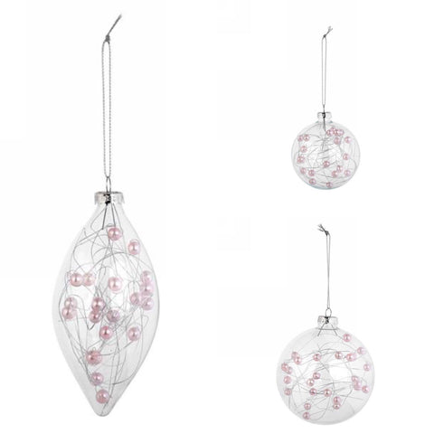 Clear w/Pink Ornament