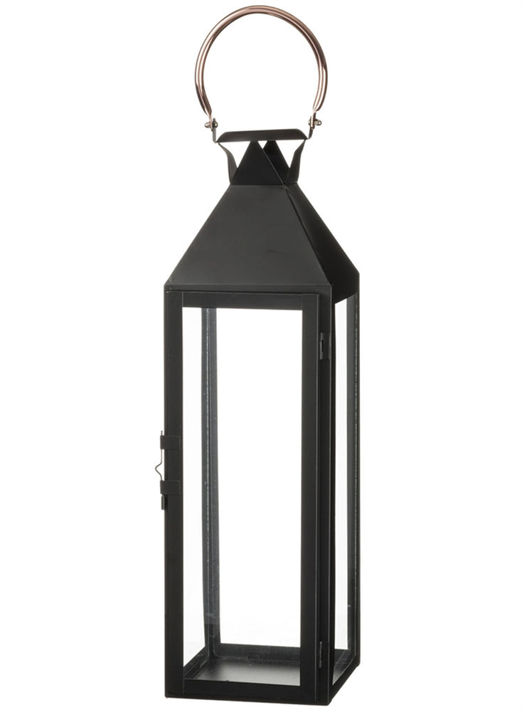"Rose Gold Handled Lantern 22"" - Madison Mackenzie Home"