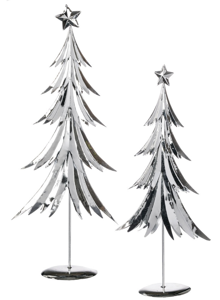 Silver Metallic Trees
