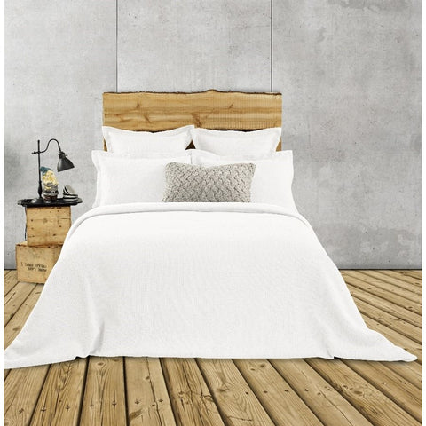 Rustic White Quilted Duvet Cover