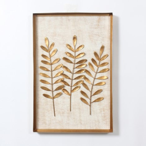 Three Leaves Wall Art With Frame