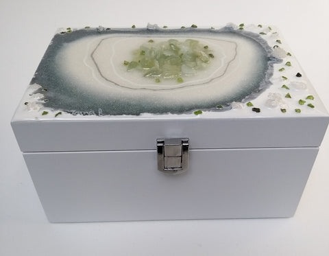 Jade and Malachite Jewellery Box