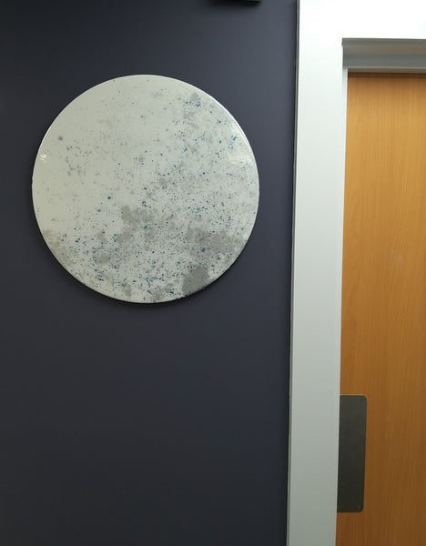 Blue Moon Circular Abstract Wall Art 50cm