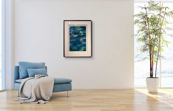 Abstract Art Blue Lagoon