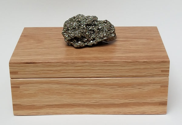Pyrite & Oak Trinket / Crystal Storage box
