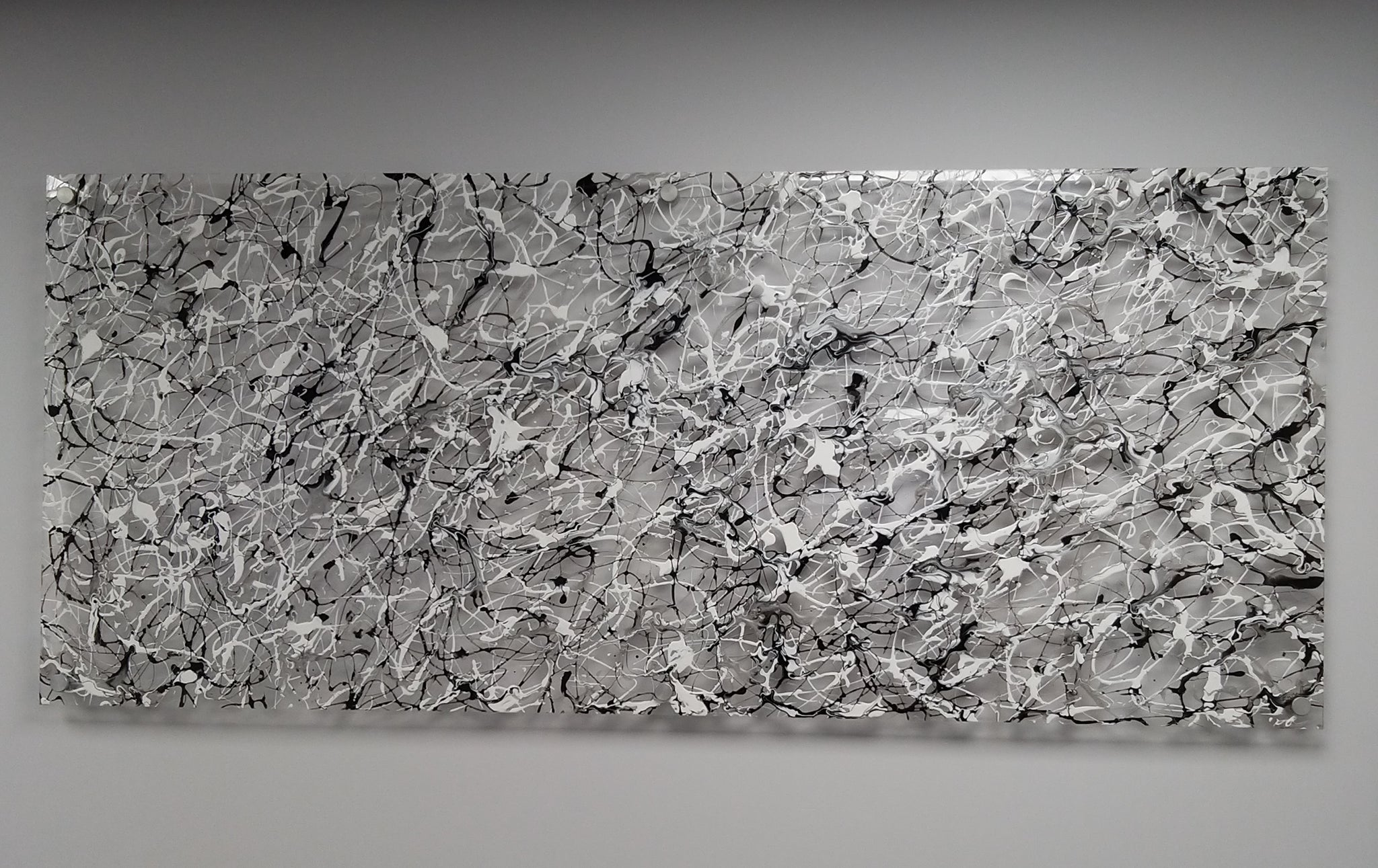 Silver Web - Plexiglass Abstract Art