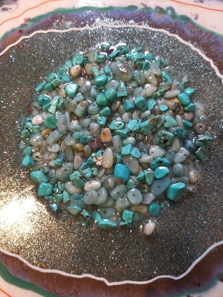 Turquoise and Smokey Quartz Geode Style Abstract Art