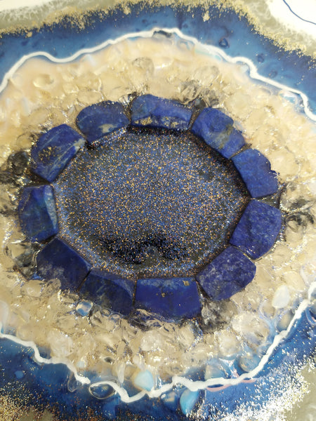 Lapis Lazuli Crystal / Trinket or Tea Storage box