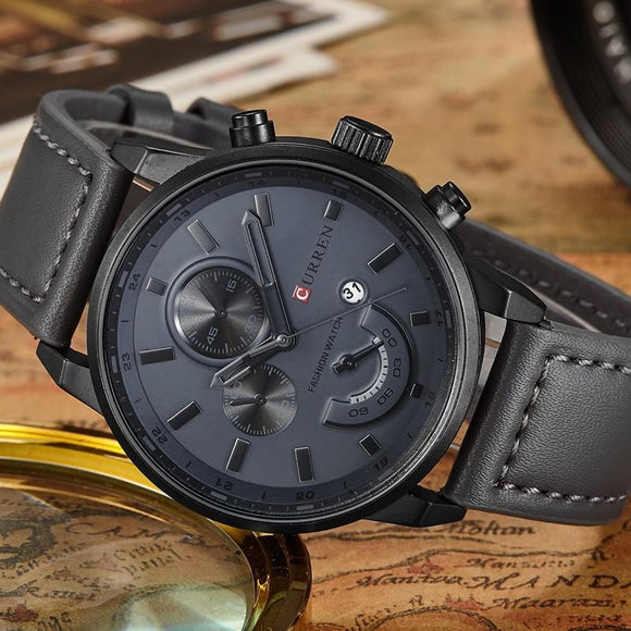 Newfangled Luxury Leather Watch - Ultimate Shopping Lounge