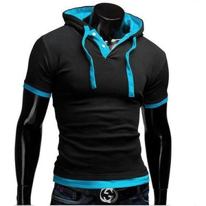 Slim-Fit Hooded Short-Sleeve T-Shirt - Ultimate Shopping Lounge