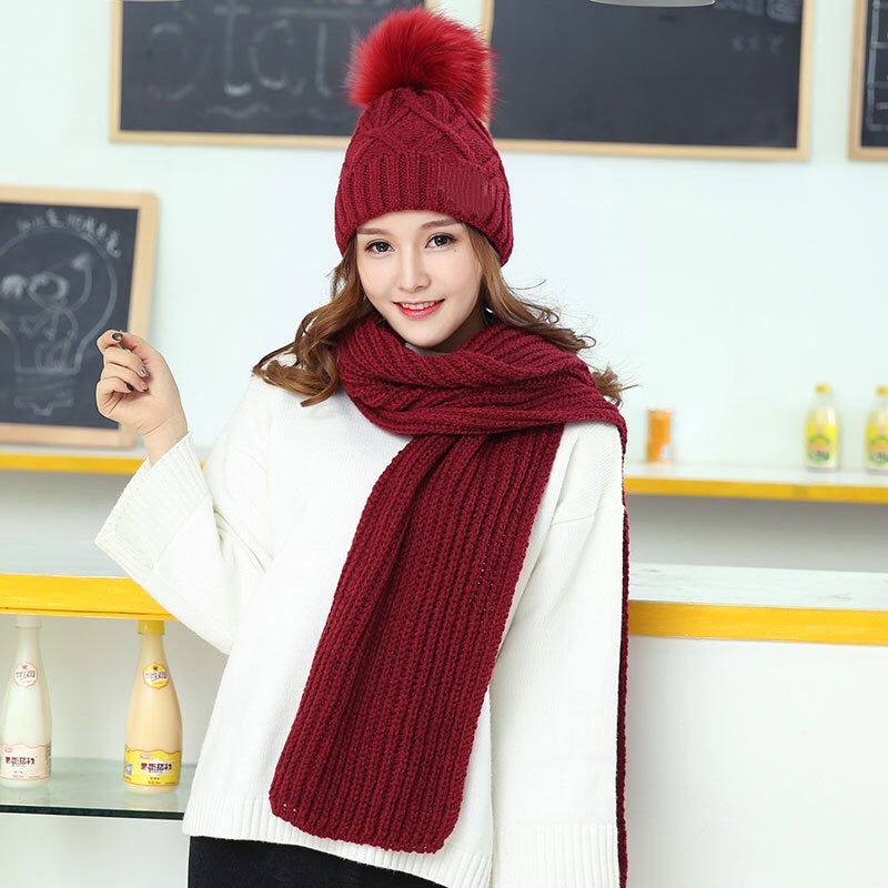Cable knit Hat & scarf