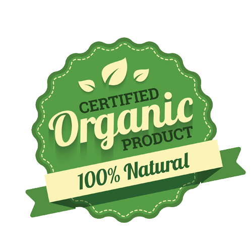 certified organic product 100% natural