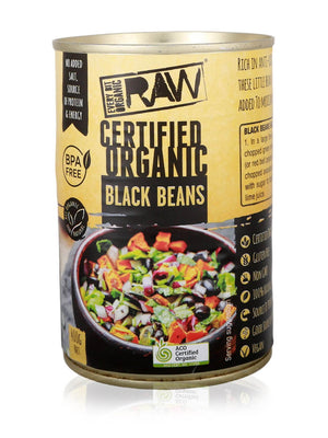 Black Beans Organic (Cooked)- - BPA Free Can - 400G
