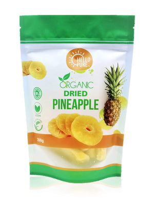 Hello Pure Dried Pineapple Rings 200g