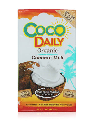 Organic Coconut Milk 18% Fat - Carton of 1 Liter