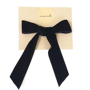 Lavish Black Velvet Bow for Ladies