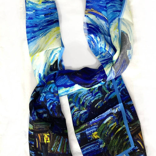 Starry Night Pure Silk Scarf